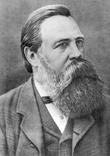 Drawing of Friedrich Engels