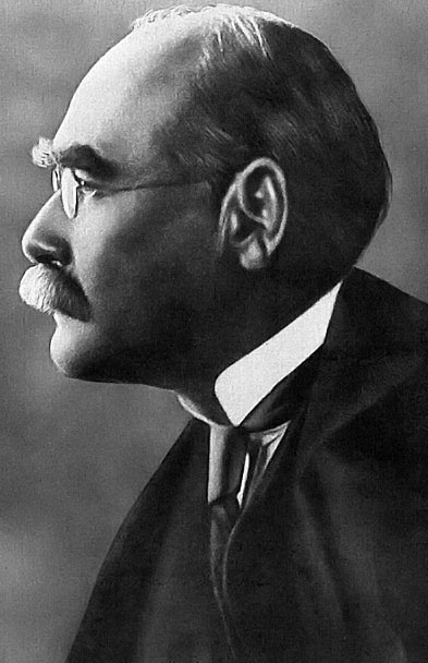Black and white photograph of Rudyard Kipling