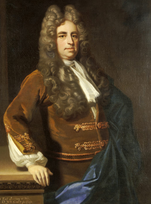 Photograph of a painting of William Blathwayt