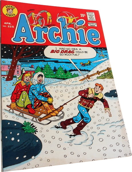 Photograph of the Archie comic number 225 published in 1973