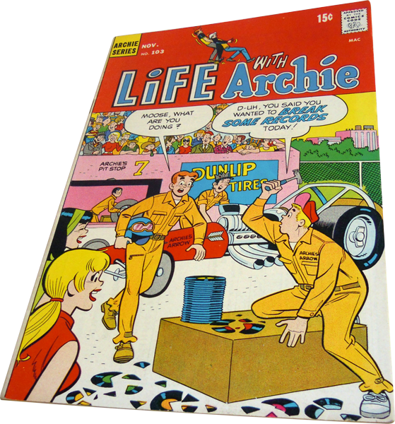 Photograph of the Life with Archie comic number 103 published in 1970