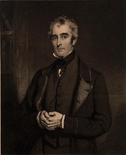 Painted portrait of John Gibson Lockhart