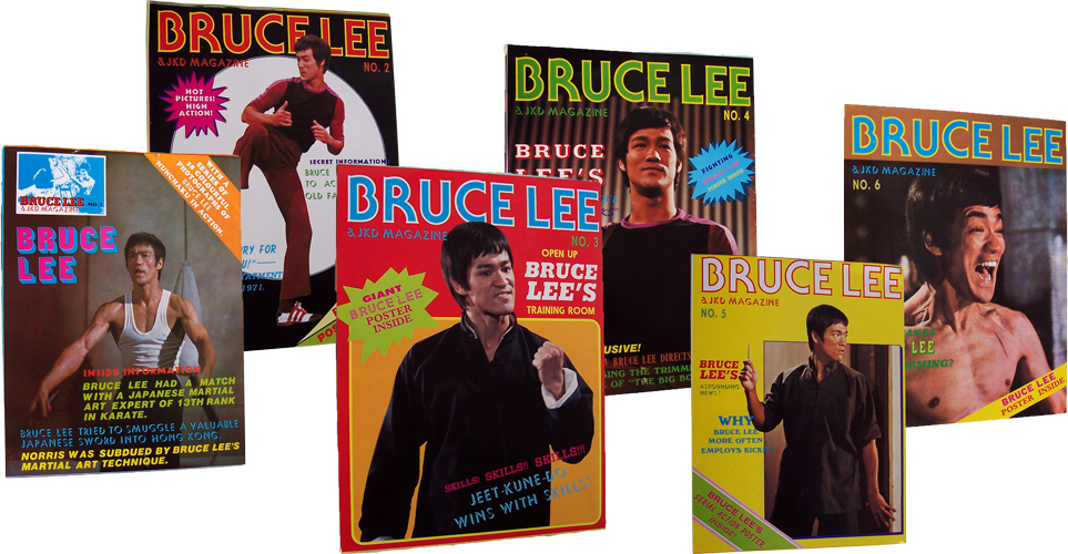 Photograph of a set of Bruce Lee & JKD magazines