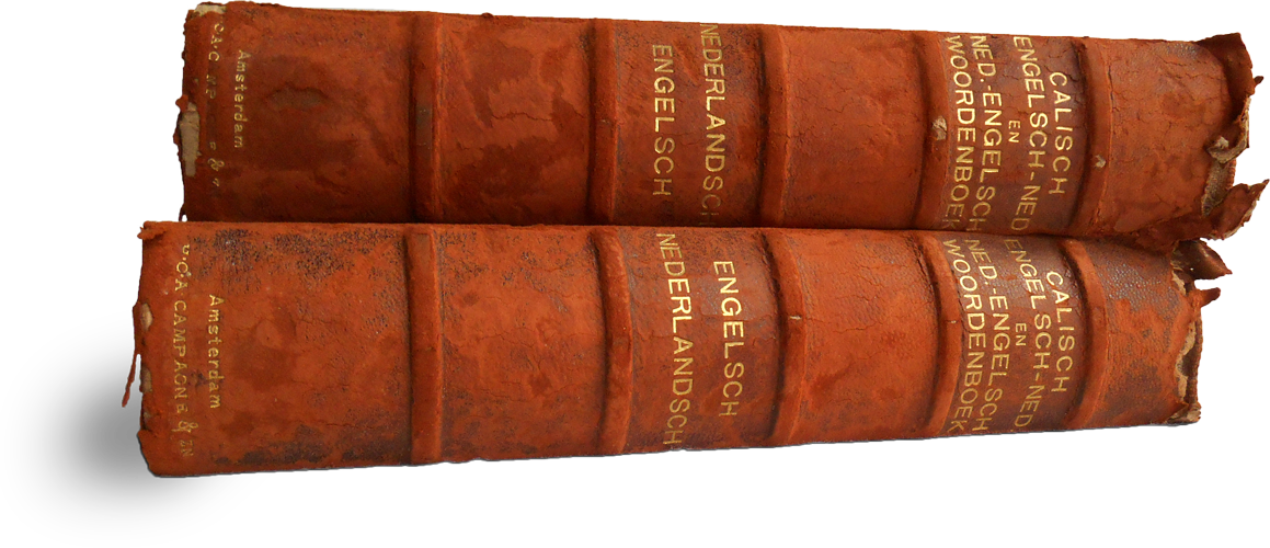 Photograph of the two books
