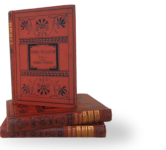 Photograph of the three books