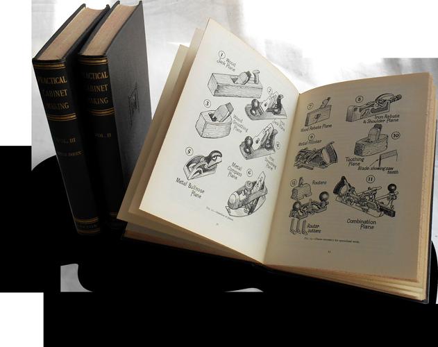 Photograph of three volumes