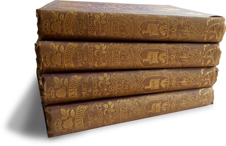 Photograph of the four volumes